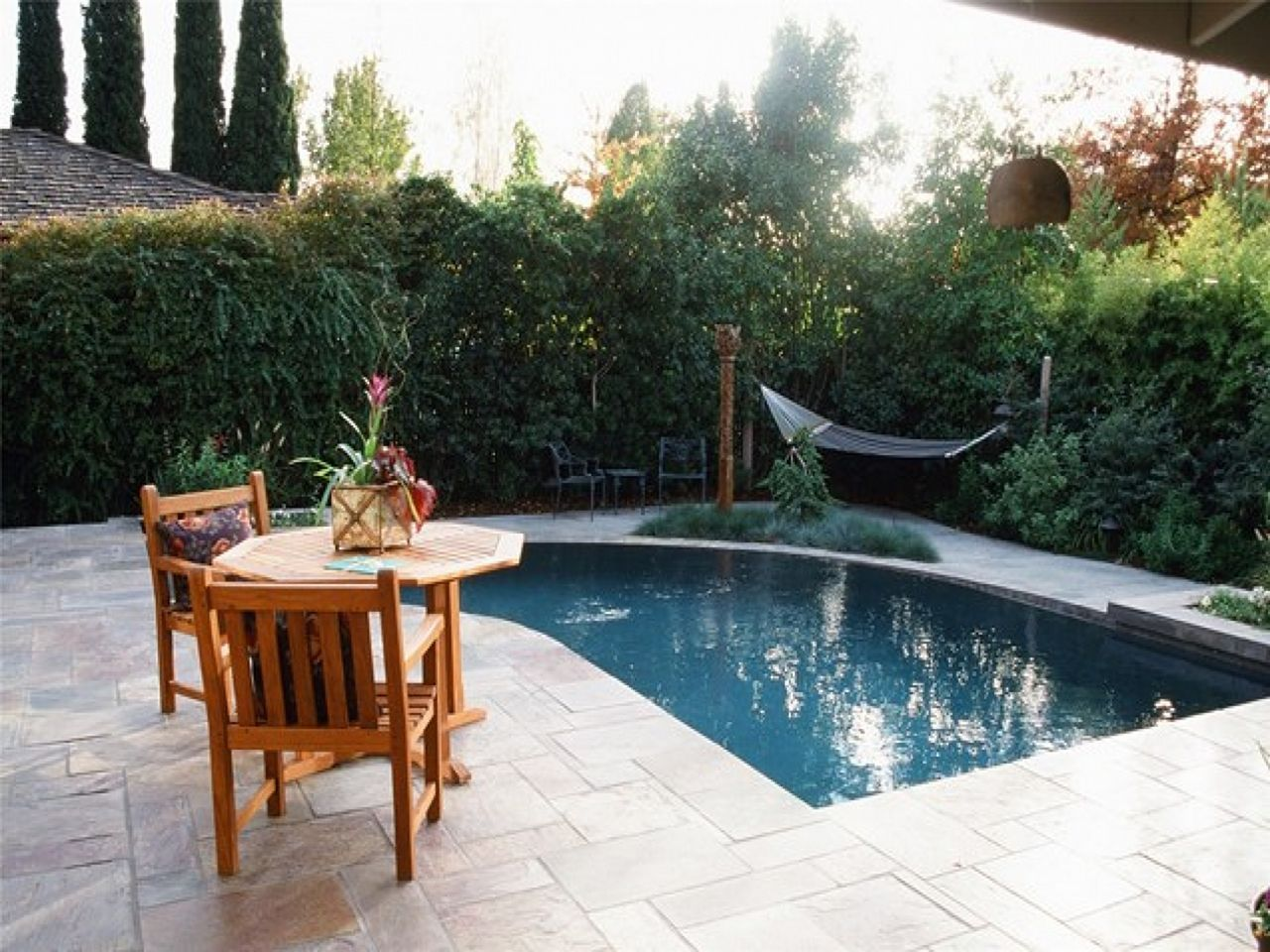 15 Incredible Small Landscaping Design With Mini Pool Ideas Pools For Small Yards Small Backyard Pools Backyard Pool Landscaping Mini pool in backyard