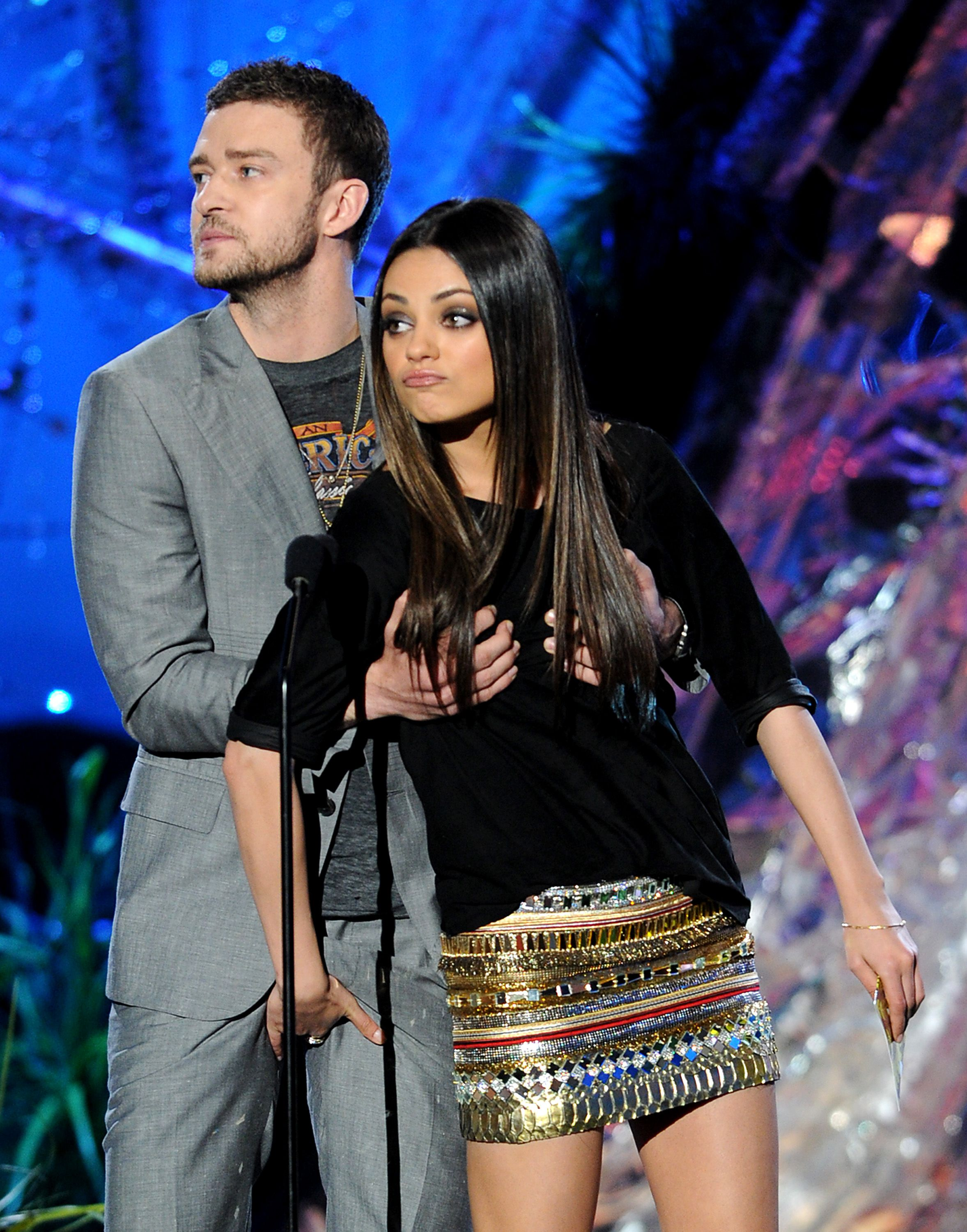 mtv movie awards:  justin timberlake & mila kunis