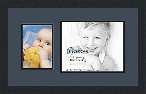 ArtToFrames Collage Photo Frame Double Mat with 1 8x10^ 5x7 Openings ...