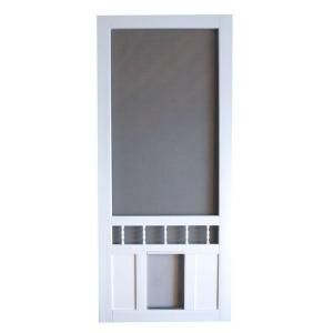 Screen Tight Southport 32 In Vinyl White Pet Screen Door Sp32l At