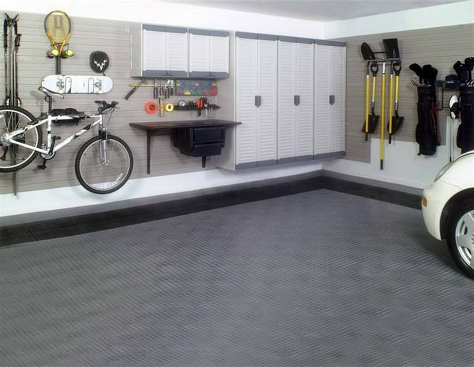 Black And Alloy Race Deck Garage Floring Fullcourtathletics