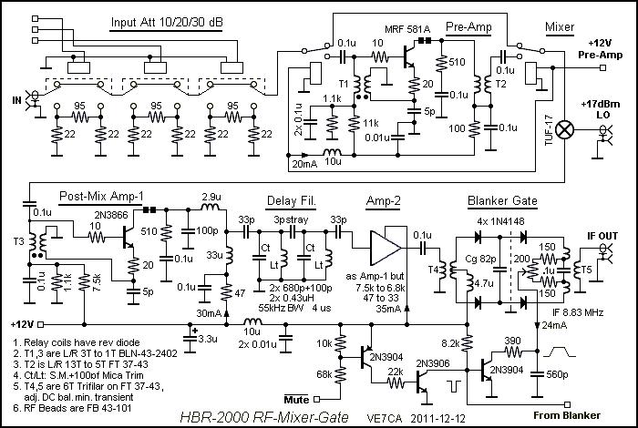 ec887dfc1a746365f1e99765d8de2b6b hbr 2000 rf, mixer, gate circuit schematic amateur radio hbr kitchenaid mixer wiring diagram at honlapkeszites.co