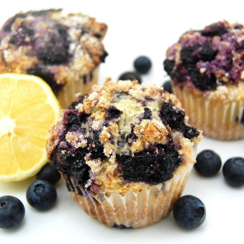Blueberry Muffins with Lemon-Sugar Topping
