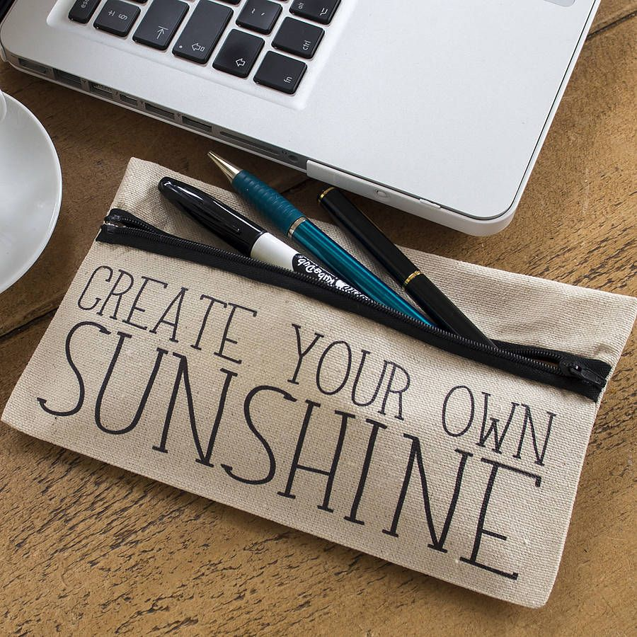 create your own sunshine pencil case sunshine and create