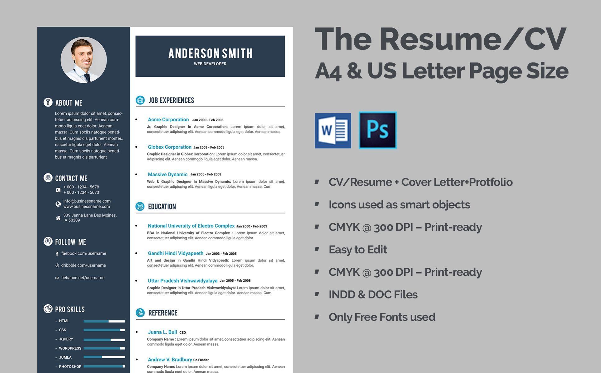 Web developer cv resume template 68317 web developer