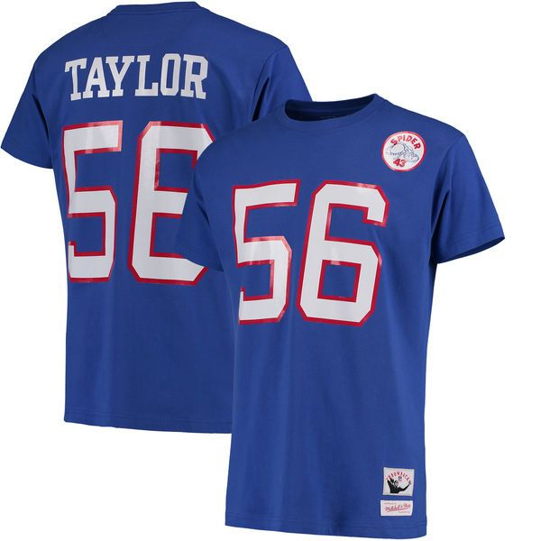 6161f490a New York Lawrence Taylor New York Giants Mitchell Ness Name Number  Throwback T- Shirt ...