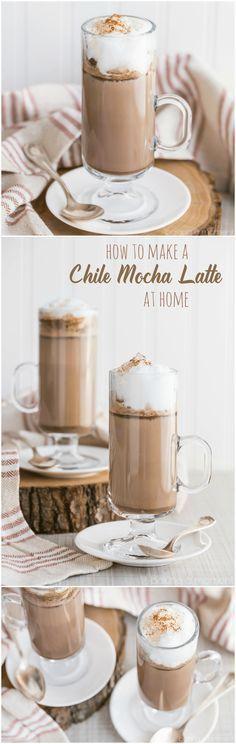 Wie man einen Chile-Mokka-Latte zu Hause macht - das ...