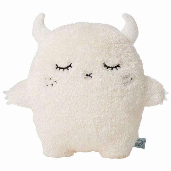 Noodoll Ricepuffy kussen wit: van het Engelse designmerk Noodoll is het grote witte Ricepuffy kussen een echte eye-catcher in de baby/kinderkamer. From www.kidsdinge.com