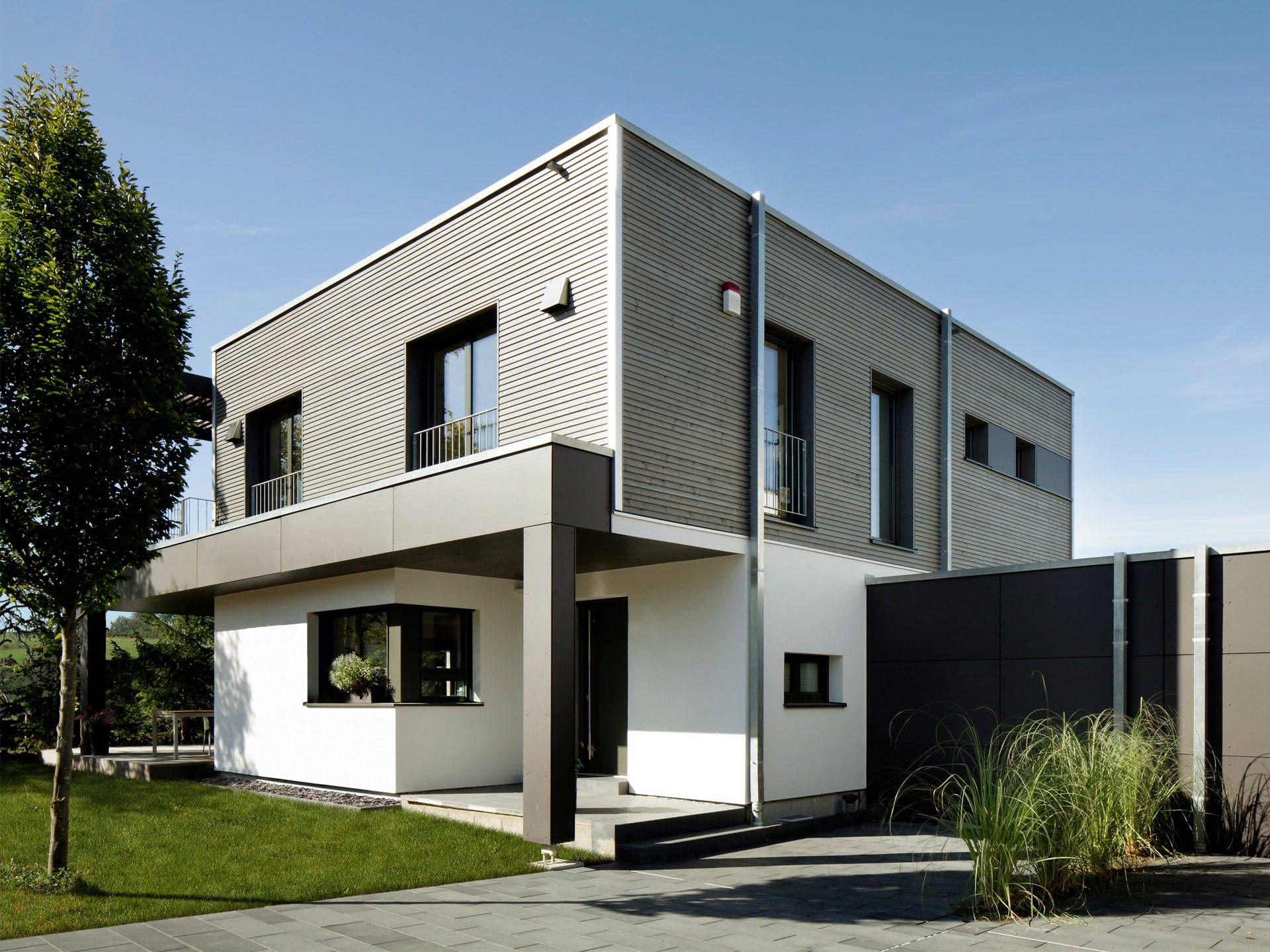 Doppelhaus nilles bauhaus cubus kubushaus pinterest haus kubus haus und bauhaus - Farbkonzept haus ...