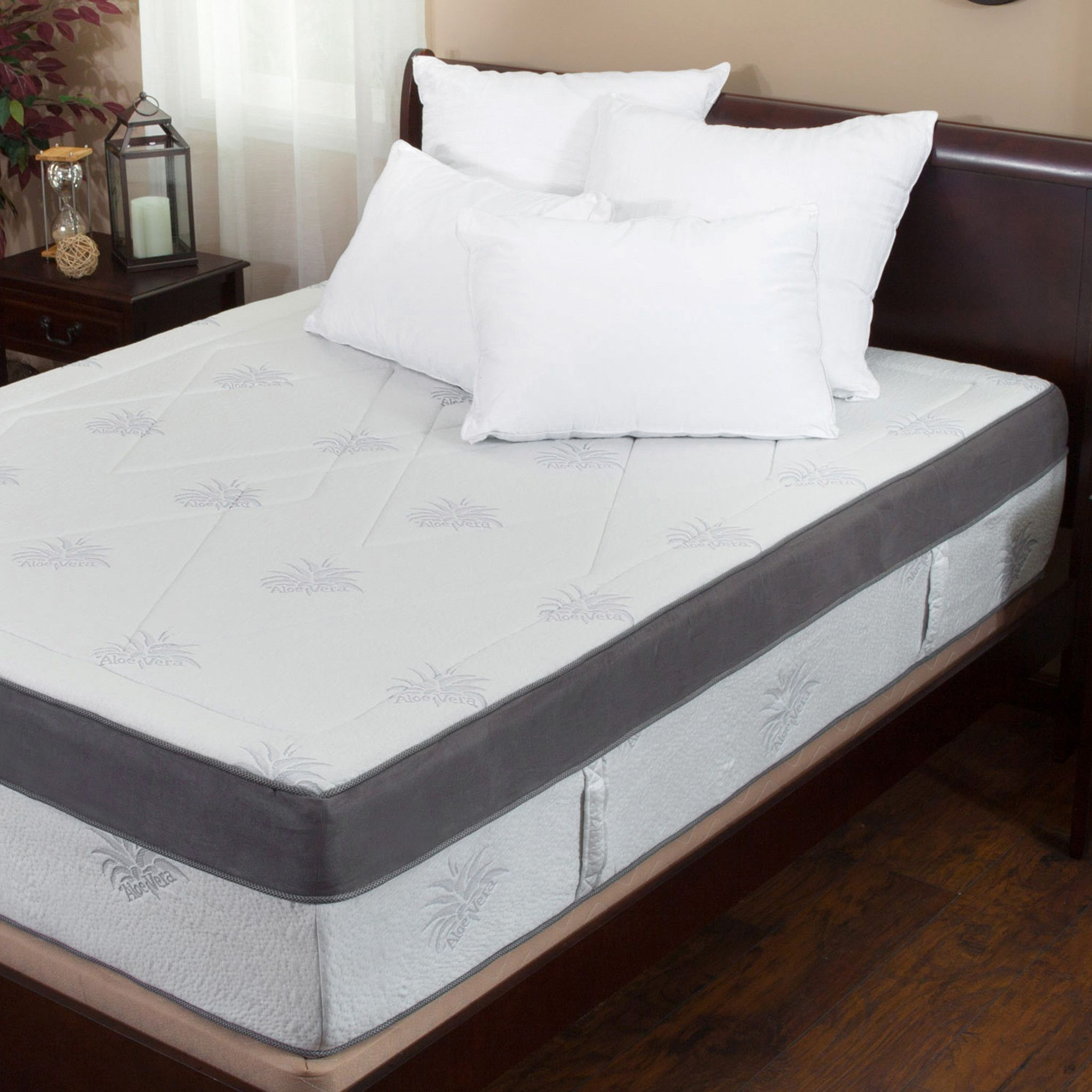 ad aloe gel infused memory foam 15 inch queen size mattress built