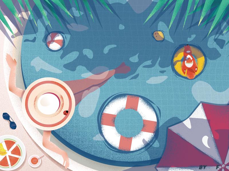 Summer Digital Art Illustration Illustration Summer Illustration