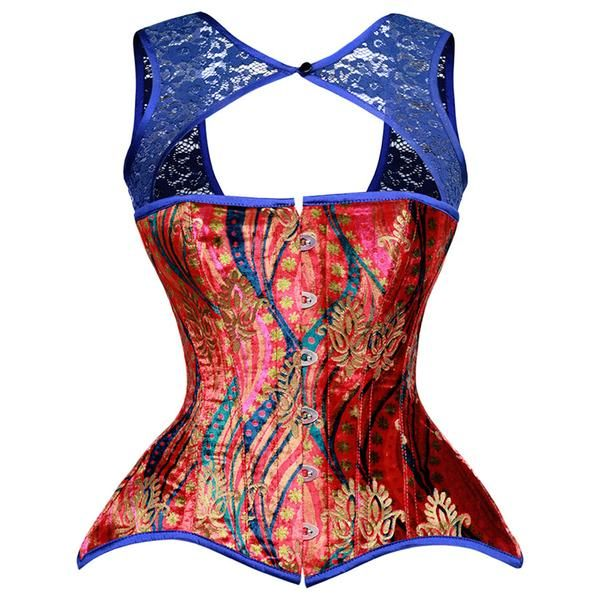 02193932f3 Victoria s Collage Overbust Floral Corset in 2019