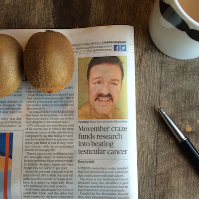 A world where no man dies from testicular cancer just got a little bit closer via @movember #movember