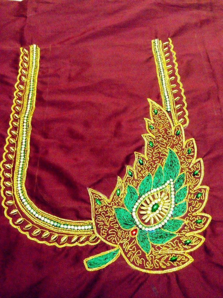 New generation of aari work design blouse rajarajeswari