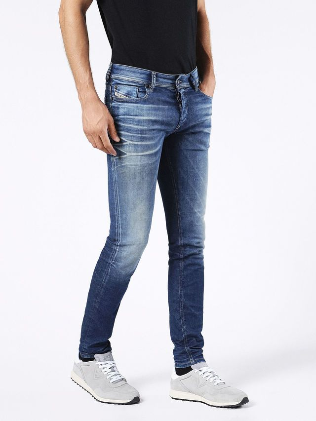 fa80f027 Diesel TEPPHAR 0854V Carrot Fit Regular Waist Treated Stretch Jeans in  Light Blue from the Diesel Online Store #DieselOnlineStore #TEPPHAR0854V |  Jeans in ...