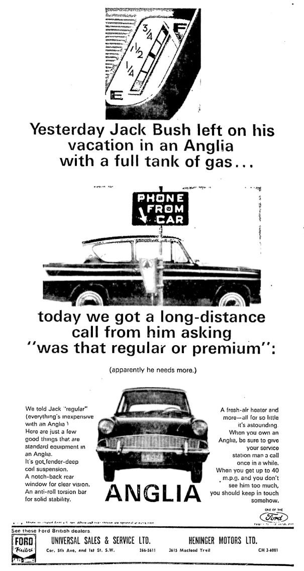 Ford Anglia Ford Dealer Advert Ford Anglia Ford Motor Company