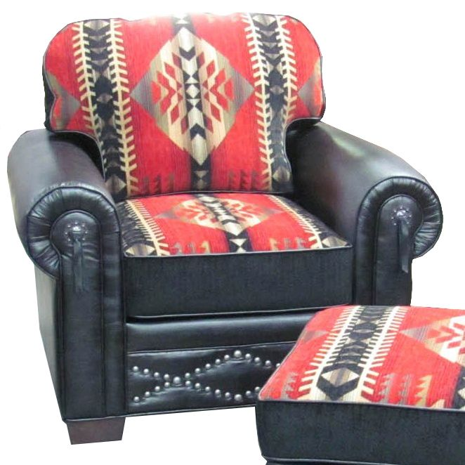 Delightful Red Feather Southwestern Chair $1500, Can Be Customized