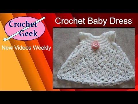 Instrucciones Como Tejer Vestidito Para Bebé a ganchillo - YouTube ...
