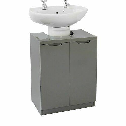 Gooding 48cm Free Standing Vanity Unit Base 17 Stories Base Finish Grey Bathroom Vanity Units Grey Bathroom Vanity