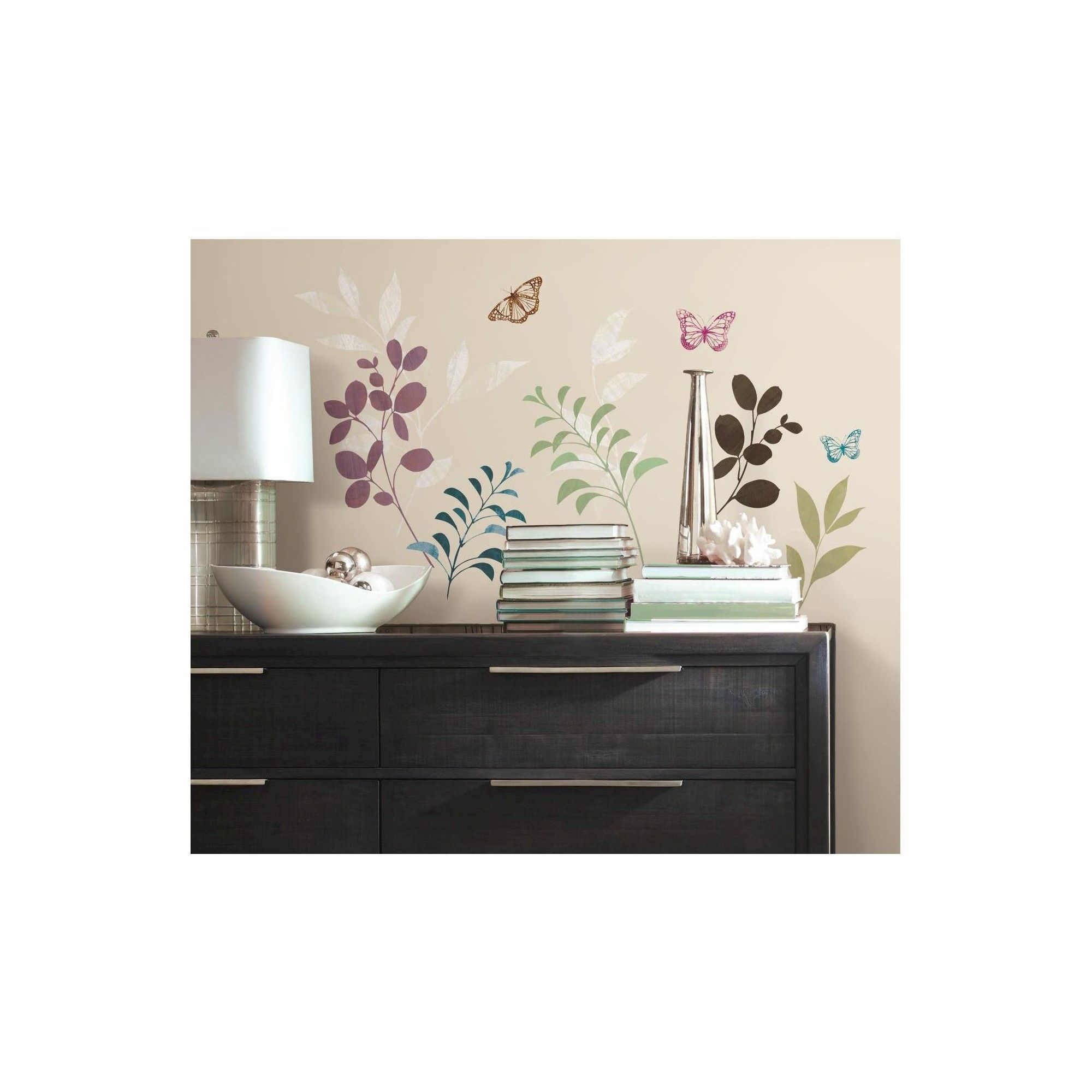 RoomMates Botanical Butterfly Peel and Stick Wall Decals