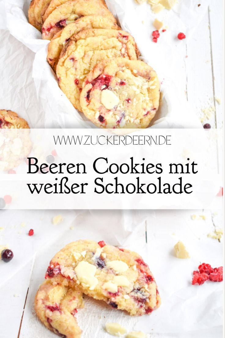 Beeren Cookies mit weißer Schokolade