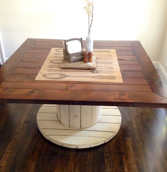 5 Foot Square Farmhouse Dining Table By Geoffrostyles On Etsy