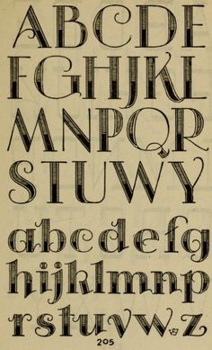 """Hand lettered page from the book, """"Studio handbook : lettering : over 250 pages, lettering, design and layouts, new alphabets (1960)."""""""
