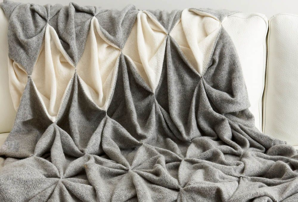 Two Tone Smocking - creative textiles design using fabric manipulation to create slouchy, structural patterns with wool