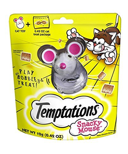 Temptations Snacky Mouse Toy and 0.42 oz. Treats for Cats