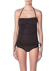 HURLEY - ONE & ONLY SOLIDS BANDINI BIKINI TOP - BLACK on http://www.surfstitch.com