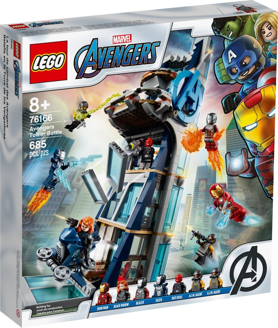 Avengers Tower Battle 76166 Marvel Buy Online At The Official Lego Shop Us Lego Super Heroes Lego Marvel Lego Marvel S Avengers