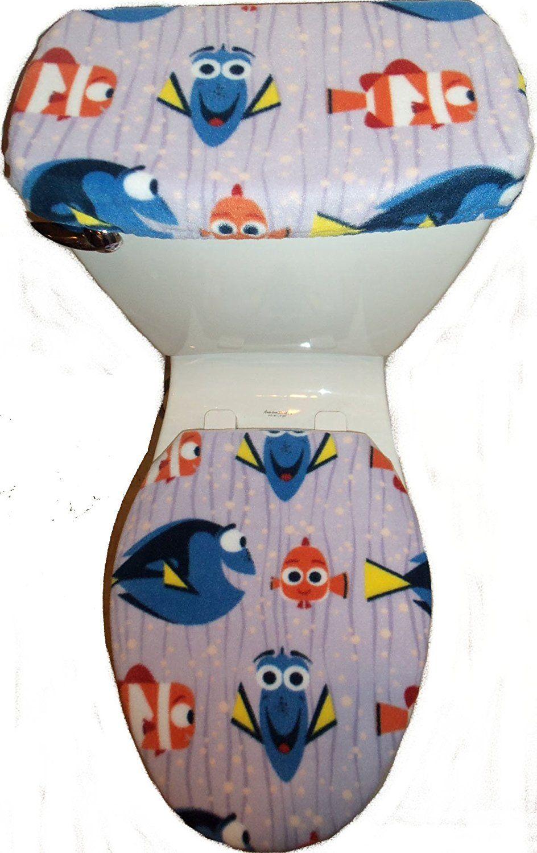 Brilliant Disney Finding Dory Nemo Fleece Fabric Toilet Seat Cover Set Alphanode Cool Chair Designs And Ideas Alphanodeonline