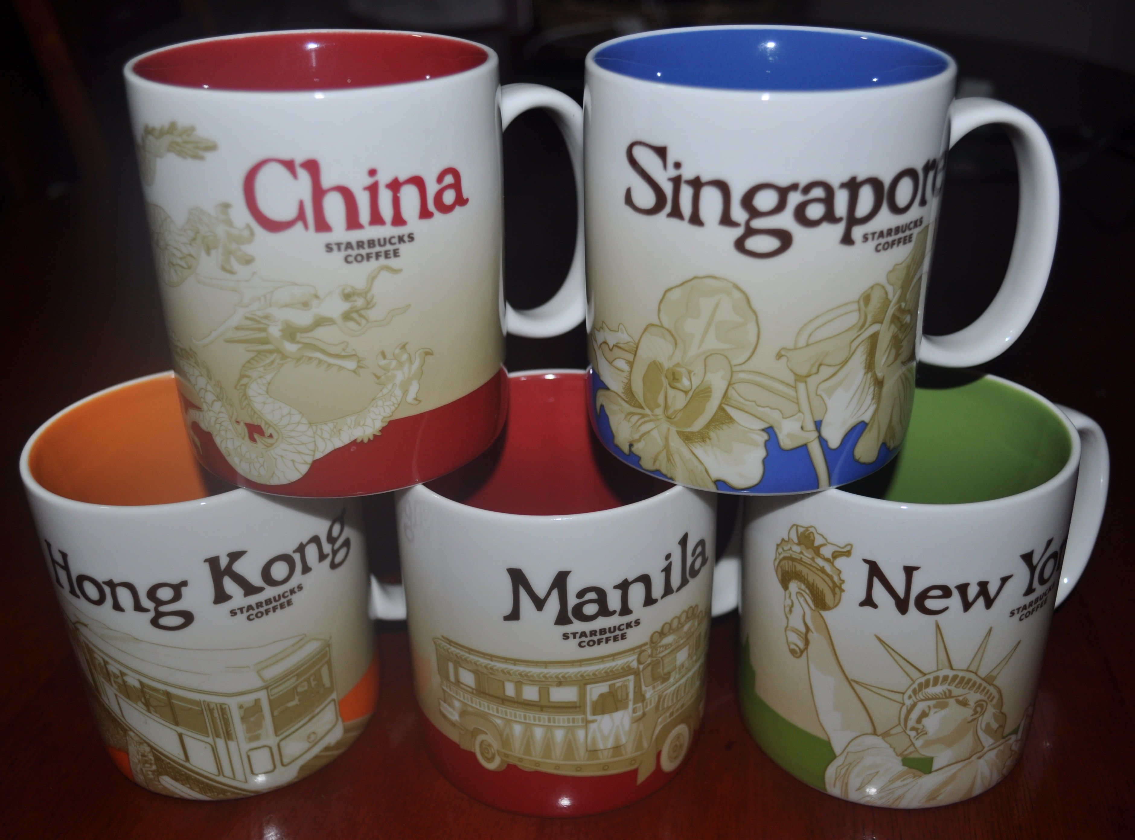 StarbUcks MuGs frOm diff. pLaces. Cosas