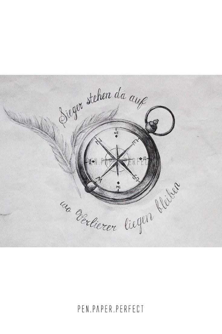 Zeichnung Mit Bleistift Auf Dem Richtigen Weg Tattoovorlage
