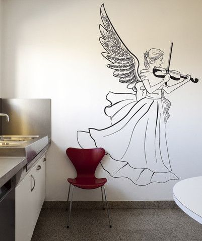 Vinyl Wall Decal Sticker Musical Angel Os Dc224 Music Wall