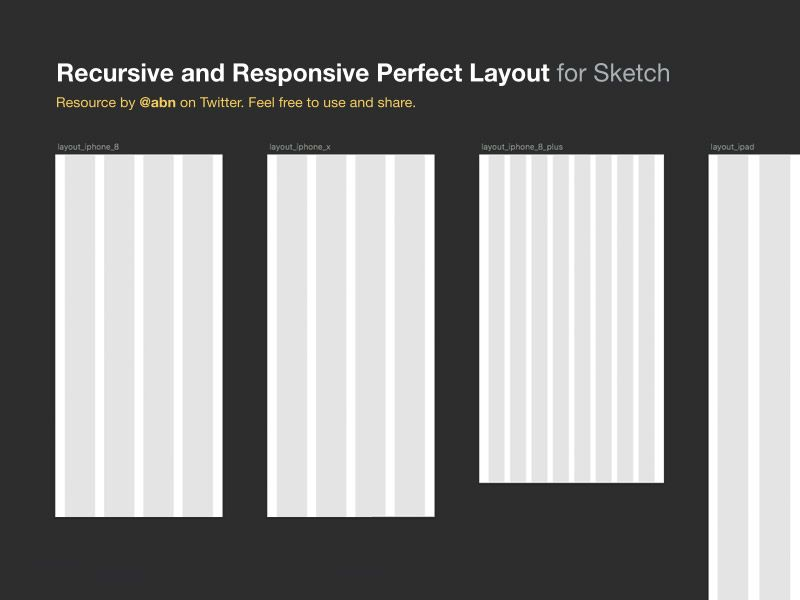 Recursive And Responsive Layout Grid Layout Sketch App Free