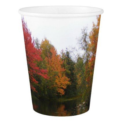 Fall Scenery Paper Plate Paper Cup | Zazzle.com #fallscenery