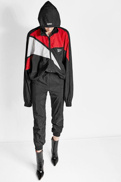 93acf544 Vetements X Reebok Cropped Track Pants Suit Fashion, Dark Fashion, Womens  Fashion, Embroidered