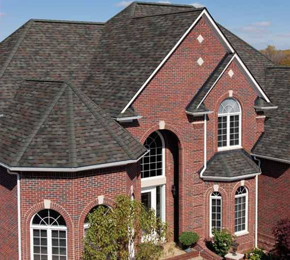 Best Trudefinition® Duration® Shingles Colonial Slate Red Brick House 400 x 300