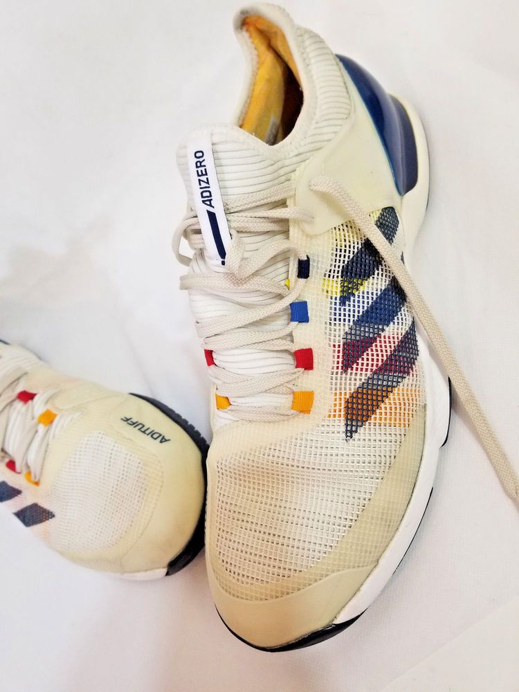 23bbacf8b Adidas Adizero Ubersonic 2 PW Pharrell Williams White Blue CG3086 Size 10.5   Adidas  AthleticSneakers