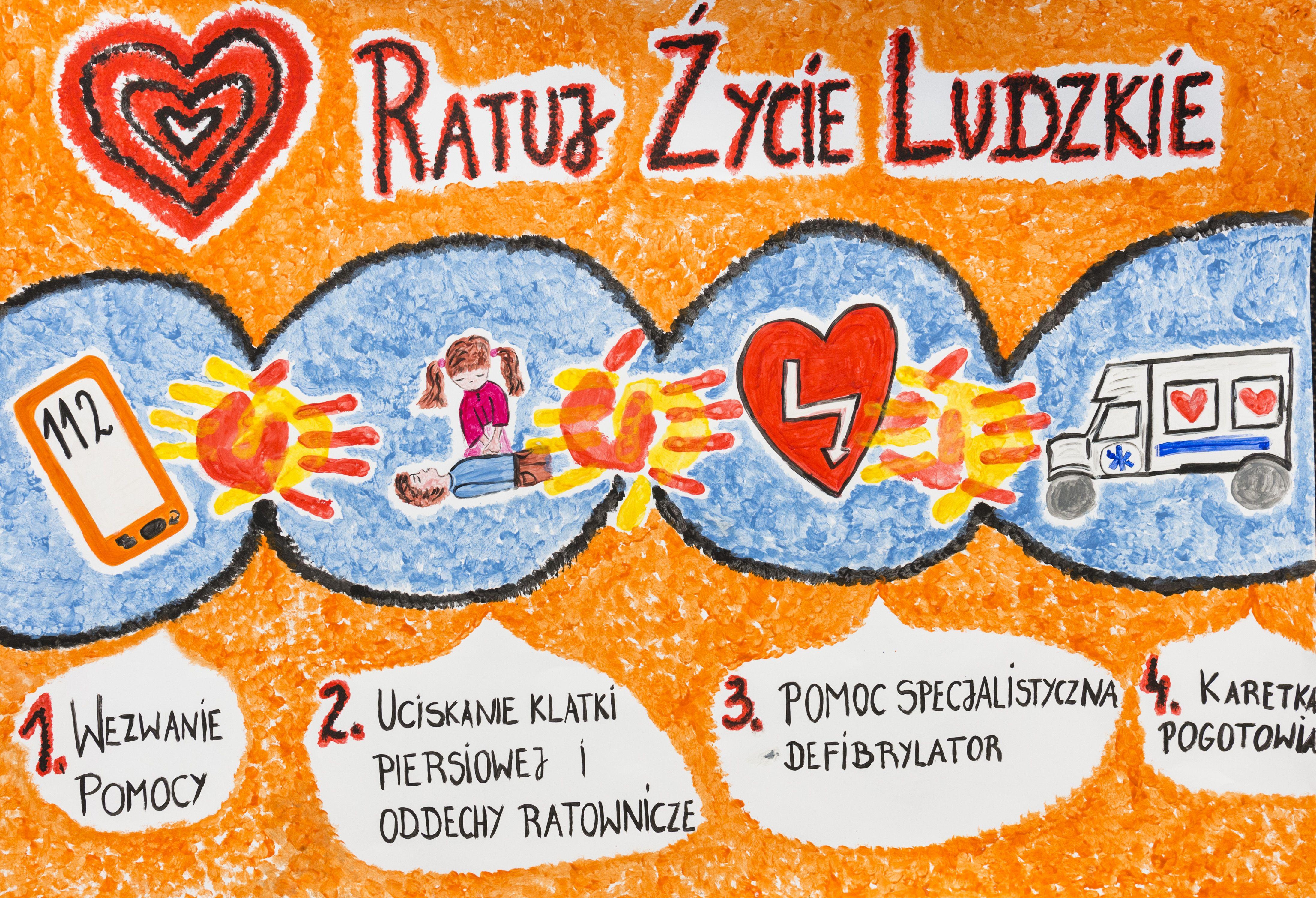 Pierwsza Pomoc First Aid Edukacja Education Children Szkola School Poster