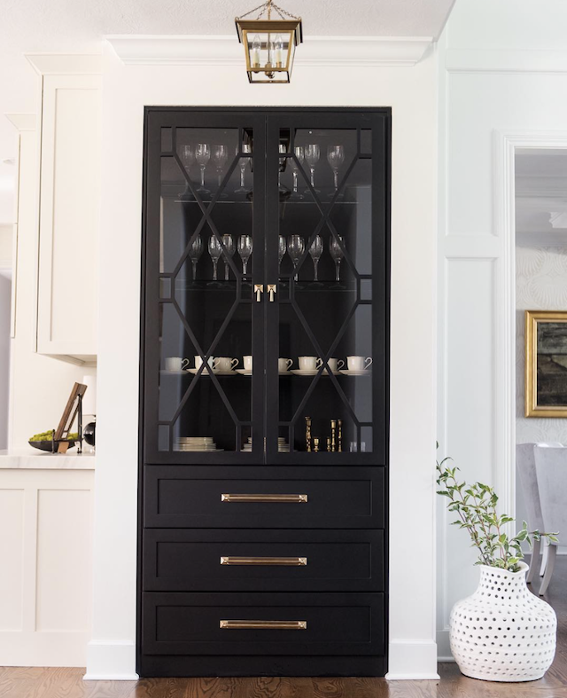 Kitchen Storage Idea: The Built-in China Cabinet - Emily A. Clark
