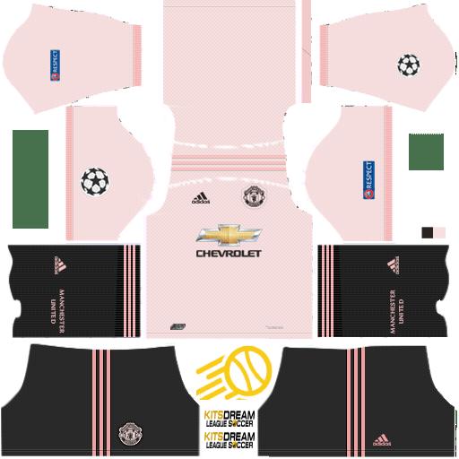 Kits Manchester United Dream League Soccer 2019 2018 Camiseta Manchester United Uniformes Soccer Manchester United