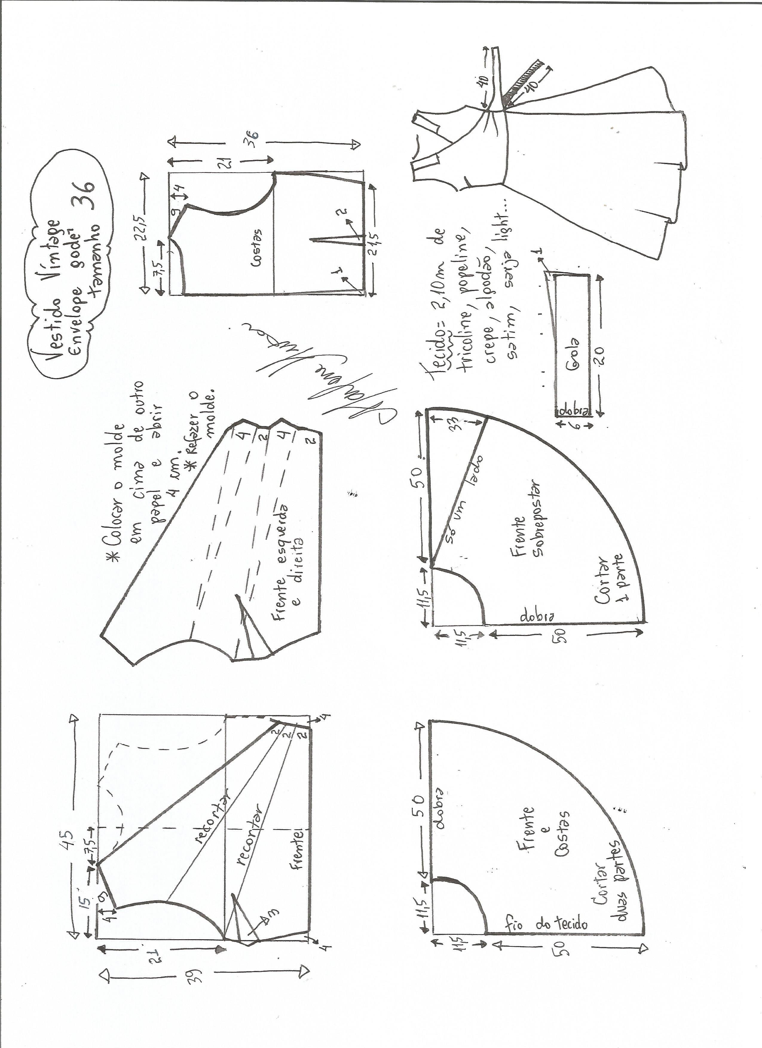 Vestidovintageenvelope-36.jpg (2550×3507)   Sewing   Pinterest ...