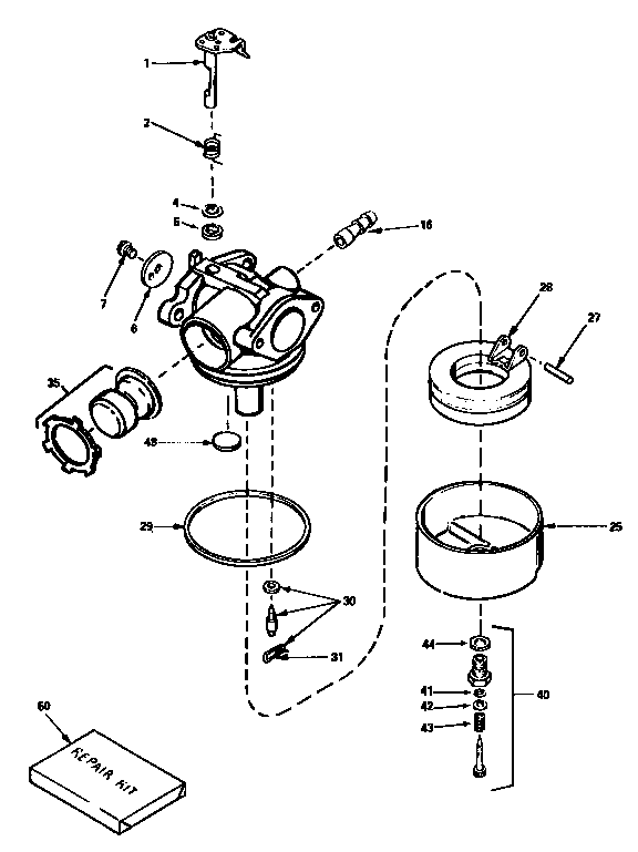 CARBURETOR 632589 (71/143) Diagram & Parts List for Model