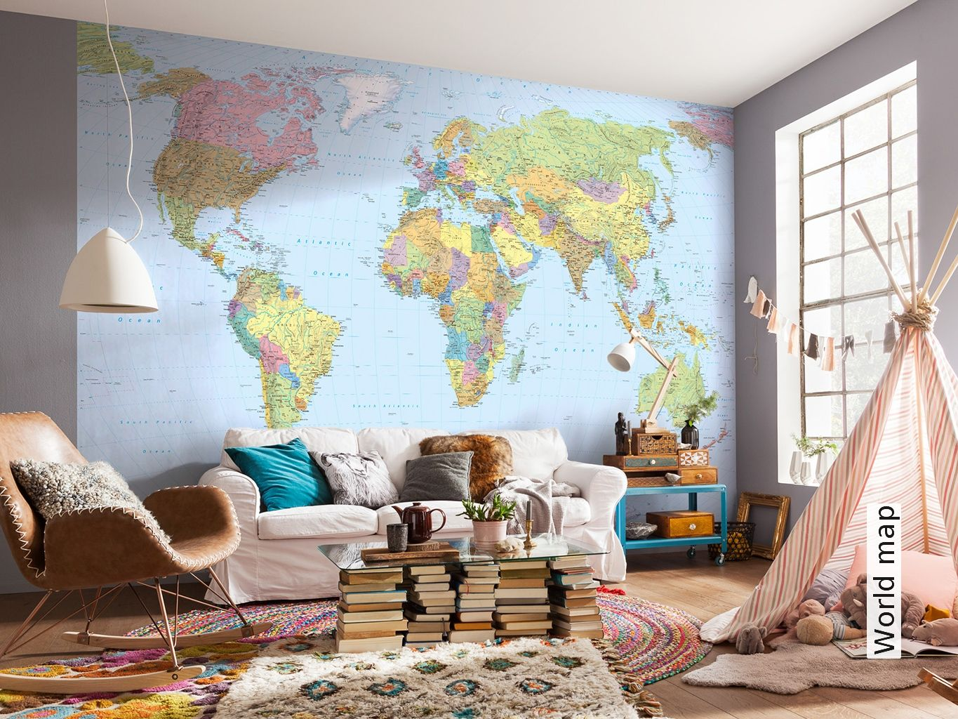 Kinderzimmer Tapete Ideen World Map In 2019 Ideas For The House Weltkarte Wand