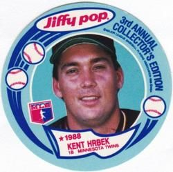 1988 Msa Jiffy Pop Discs 10 Kent Hrbek Front 1988 Baseball Cards