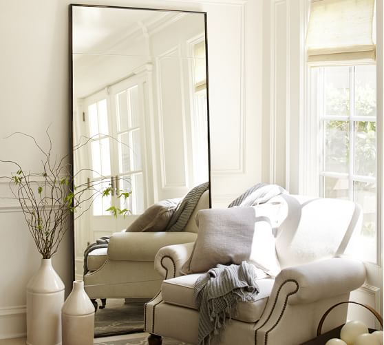 Berke Oversized Iron Frame Floor Mirror Oversized Floor