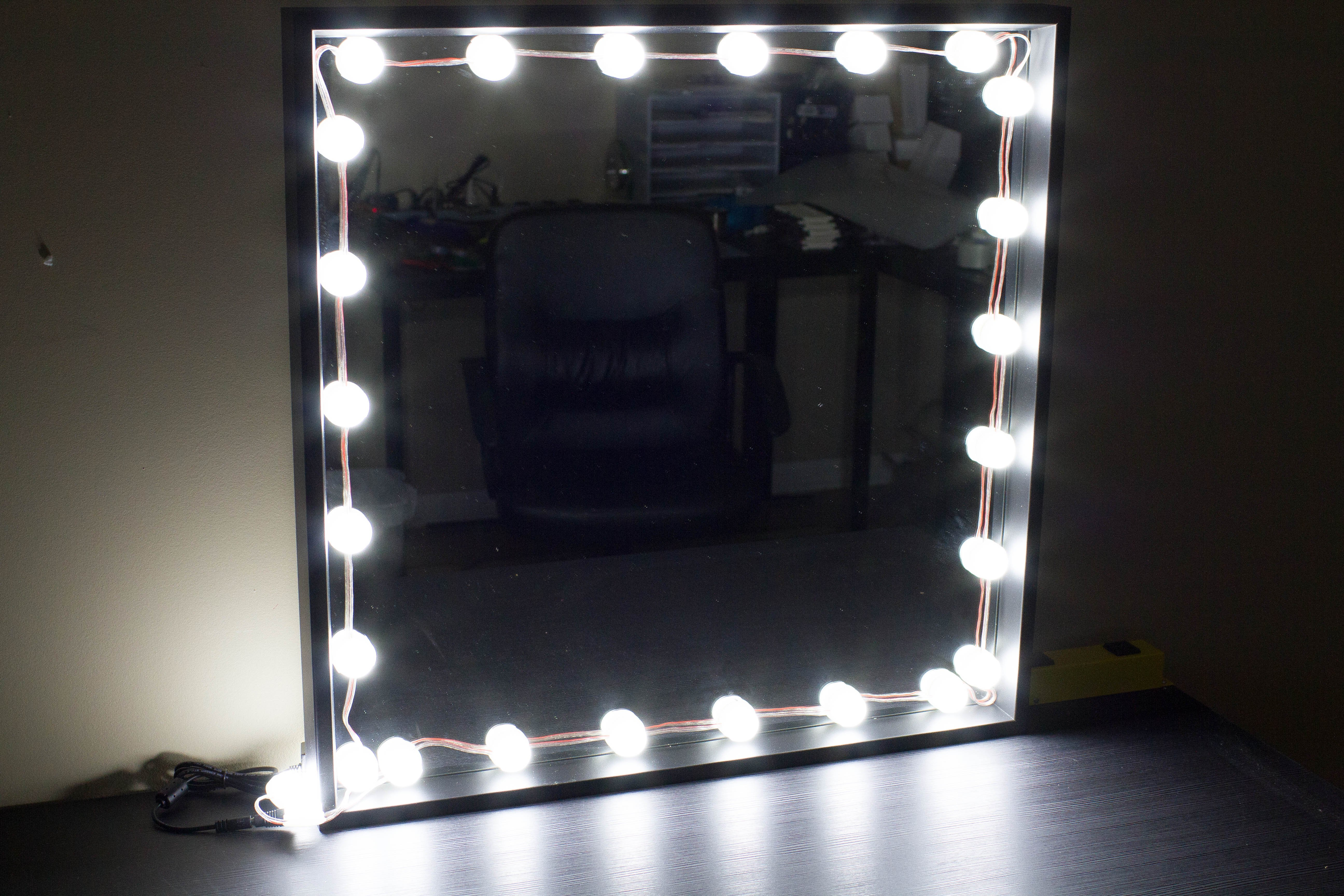 Bulb Series Makeup Mirror Led Light Package With Dimmer 9ft