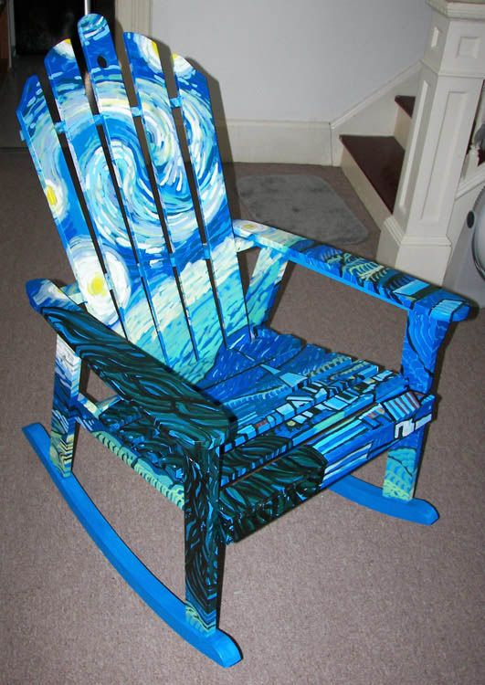 Decorated Chairs For Charity | The Space Is Terrific For · Painted Rocking  ...